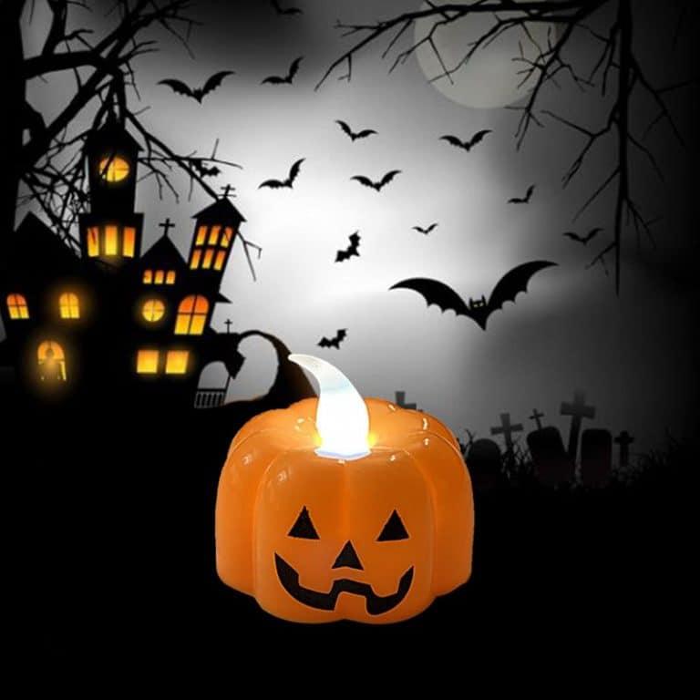 شمع وارمر چراغدار کدو هالووین مدل STH156