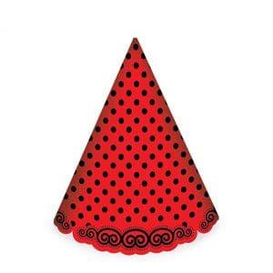 کلاه قرمز خال مشکی