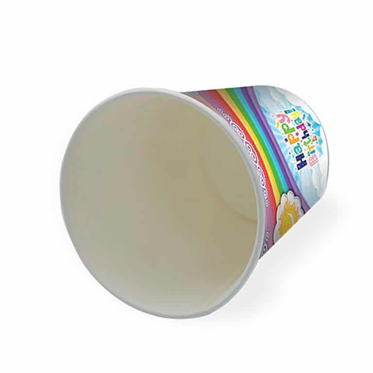 پیش دستی و لیوان تم تولد رنگین کمان مدل STBT364