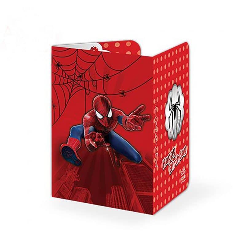 کارت دعوت تم تولد مرد عنکبوتی مدل STBT825