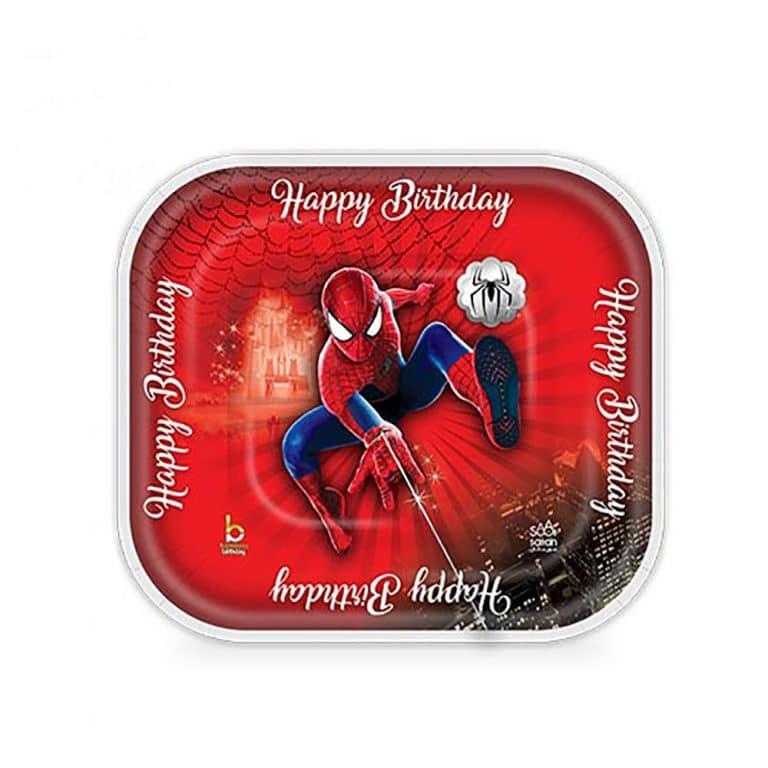 پیش دستی و لیوان تم تولد مرد عنکبوتی مدل STBT827