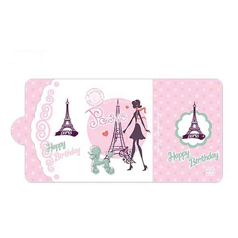 کارت دعوت تم تولد دختر پاریس مدل STBT405