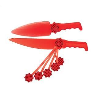 کارد و کفگیر قرمز خال مشکی
