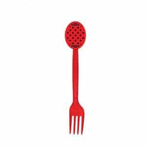 چنگال تم قرمز خال مشکی