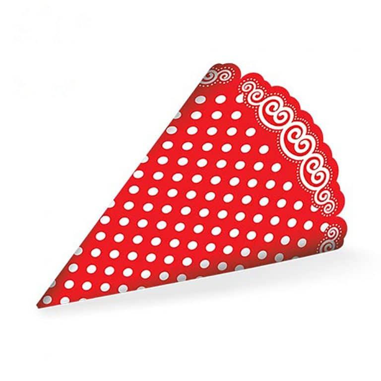 کلاه تم تولد قرمز خال سفید مدل STBT575
