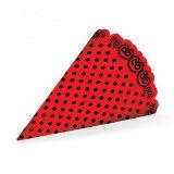 کلاه تم تولد قرمز خال خالی