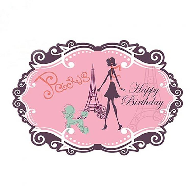 بنر تم تولد دختر پاریس مدل STBT414