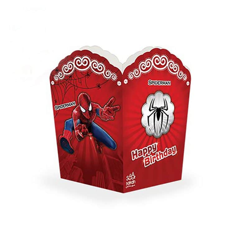 پاپ کورن تم تولد مرد عنکبوتی مدل STBT838