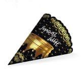 کلاه تولد تاج طلایی مشکی
