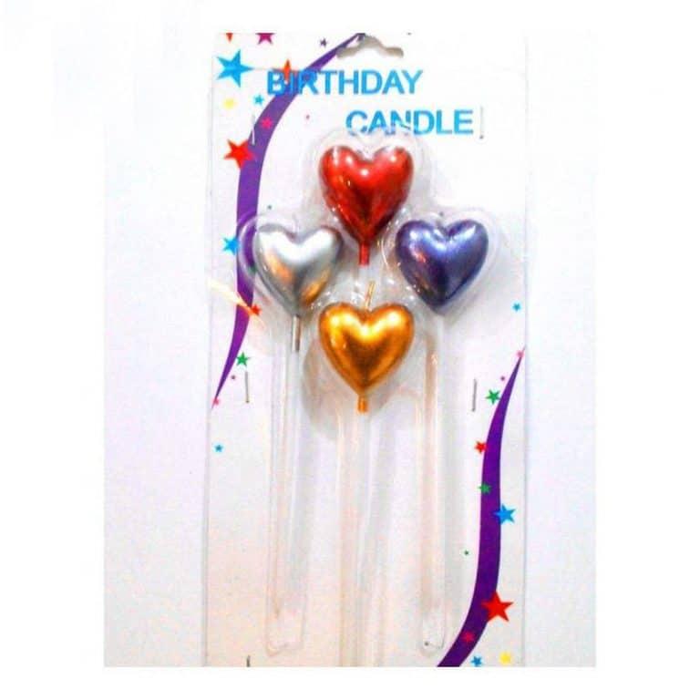 شمع تولد طرح قلب مدل STC253