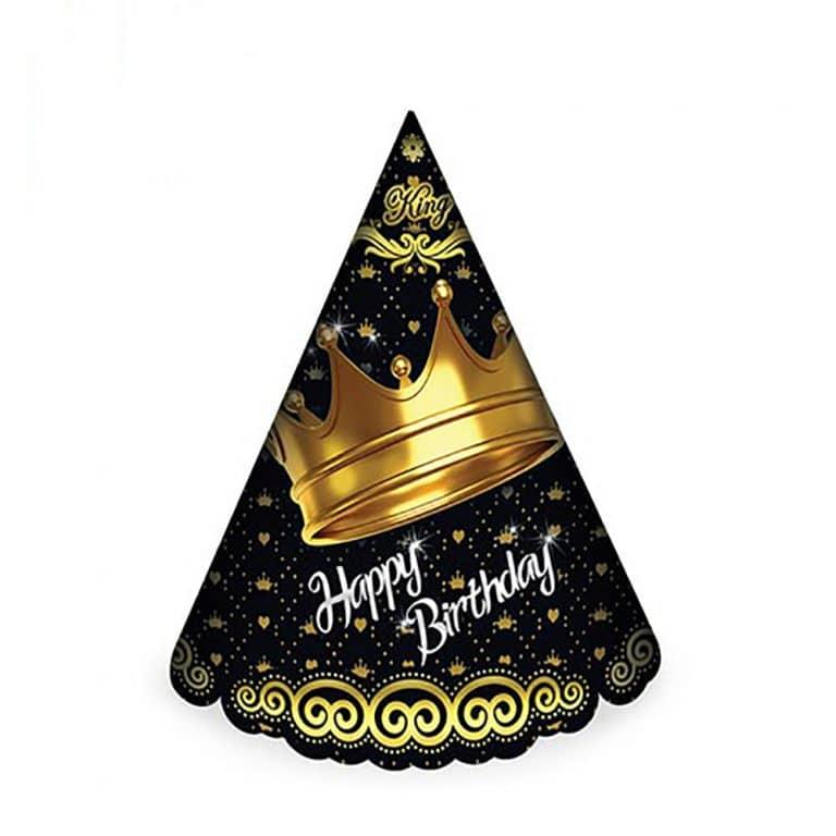 کلاه تم تولد تاج طلایی مدل STBT892