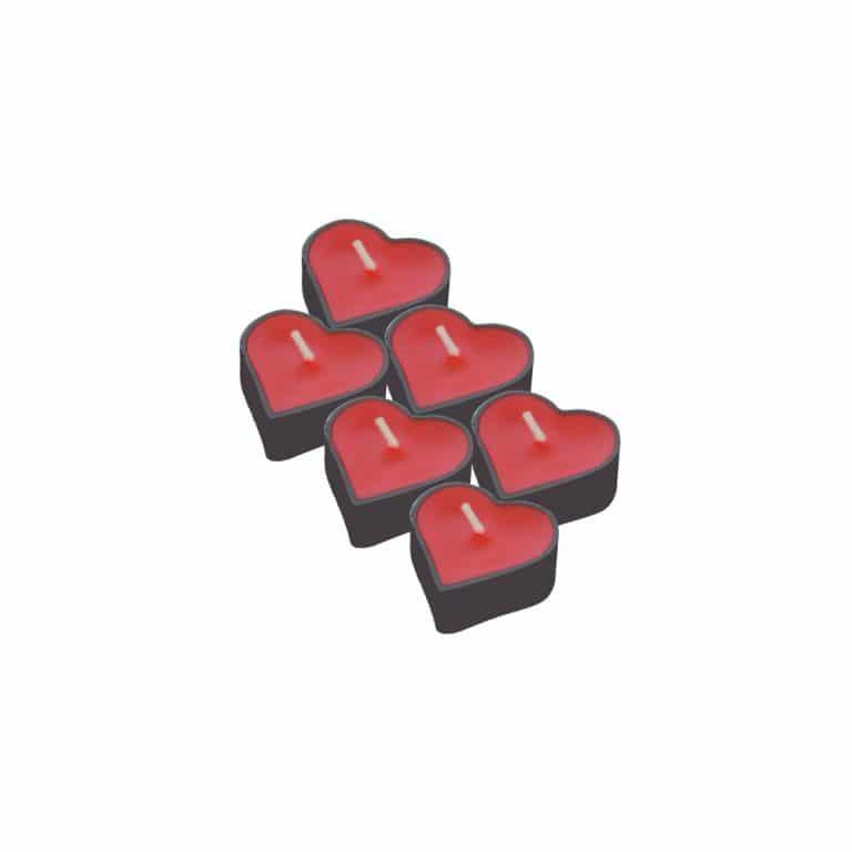 شمع وارمر طرح قلب مدل STC256 بسته ۶ عددی
