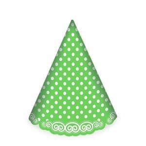 کلاه تولد سبز خال سفید