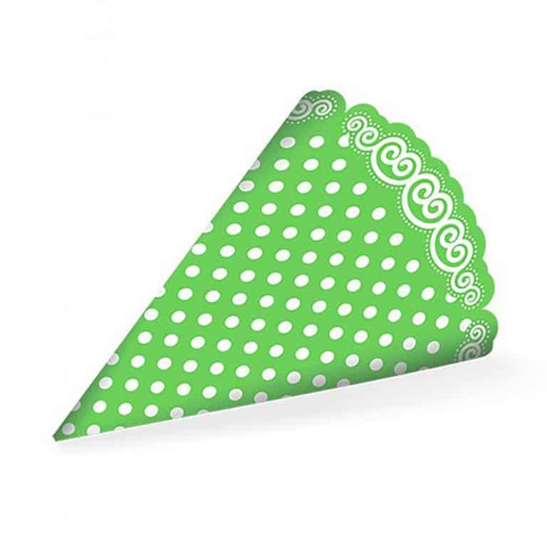 کلاه تم تولد سبز خال سفید مدل STBT919