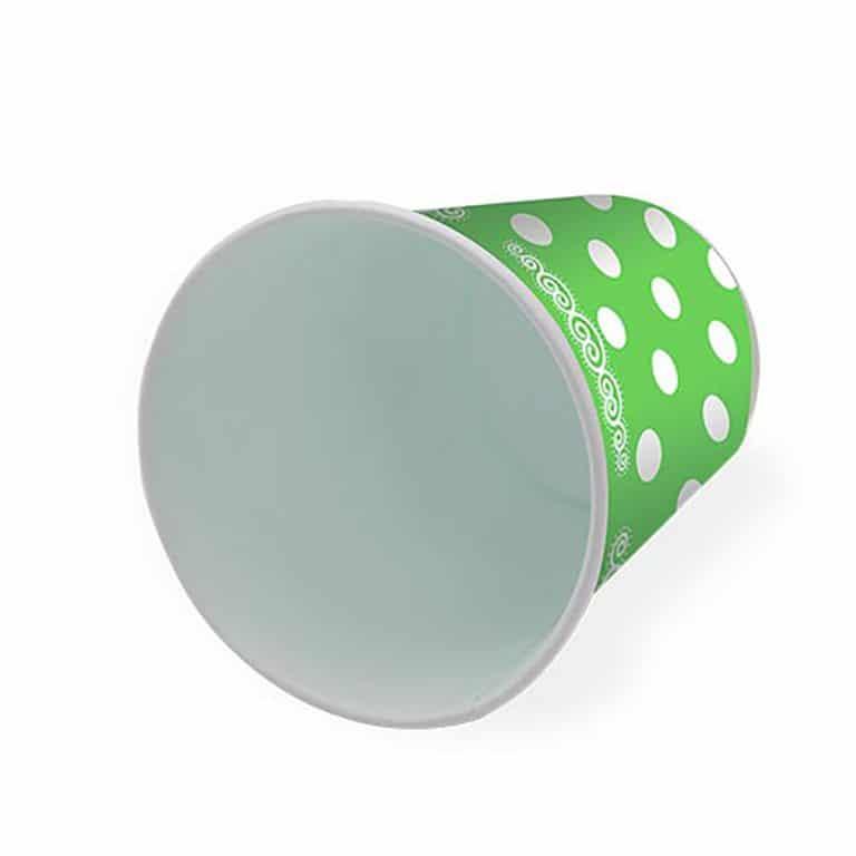 پیش دستی و لیوان تم تولد سبز خال سفید مدل STBT922